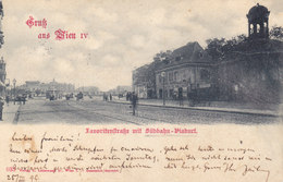 Wien 4: Favoritenstraße Mit Südbahn-Viaduct (Südtirolerplatz) 1899 !!! - Zonder Classificatie