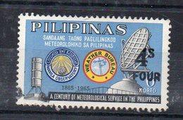 PHILIPPINES - A CENTURY OF METEROLOGICAL SERVICE - UN SIECLE DE SERVICE METEOROLOGIQUE - Oblitéré - Used - 1970 - 4s - - Philippines