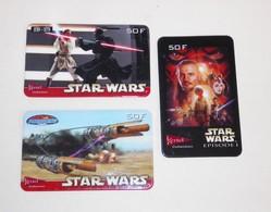 3 Carte Téléphonique Téléphone Prépayée STAR WARS Phonecard & - Film