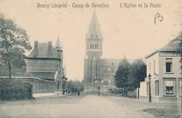 CPA - Belgique - Leopoldsburg - Bourg-Léopold - Camp De Beverloo - L'Eglise Et La Poste - Leopoldsburg (Kamp Van Beverloo)
