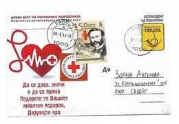 Macedonia Red Cross 2013 Jean Henri Dunant Post Card - Macedonia
