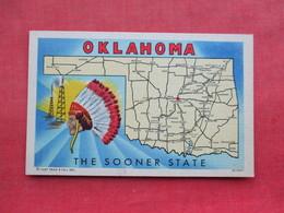 Map Oklahoma The Sooner State    - Ref 3288 - Indiens De L'Amerique Du Nord