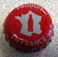 France Capsule Crown Cap Coca Cola Rouge Produit En France - Soda