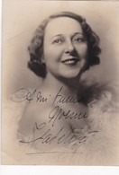 ISABEL MARENGO (1894-1977) SOPRANO ARGENTINA AUTOGRAPH SUR PHOTO CIRCA 1920s SIZE 11x15cm - BLEUP - Gehandtekende Foto's
