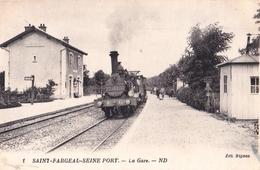 CPA : Saint Fargeau Seine Port (89 ) La Gare Train Gros Plan    Locomotive 467    Ed Bignon N° 1 - Saint Fargeau