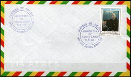 Bolivia 1986 CEFIBOL 1263s SPD Y Tarjeta Fray Jose Zampa. Educador Franciscano. Escuelas De Cristo. - Bolivie