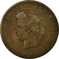 Monnaie, France, Cérès, 10 Centimes, 1870, Paris, TB+, Bronze, Gadoury:265 - D. 10 Centimes