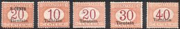 Tiensin 1917/18 Segnatasse Nuovi  (uno Con Traccia Di Linguella) - Bureaux Etrangers