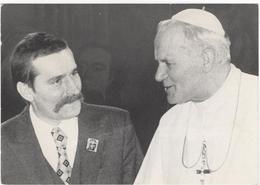 Polen Bij De Zwarte Lieve Vrouw Van Czestochowa - Lech Walesa And Pope Johannes-Paulus II - Pologne