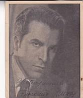 FERNANDO LAMAS, ACTOR AUTOGRAPH SUR PHOTO CIRCA 1930s SIZE 12x15cm - BLEUP - Gehandtekende Foto's