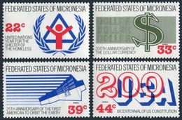 Micronesia 56-57,C28-C29,C30 Sheet,MNH.Events 1987.IYSH-1987,US Constitution-200 - Us Independence