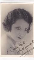 EVA FRANCO ACTRESS AUTOGRAPH SUR CPA CIRCA 1930S - BLEUP - Gehandtekende Foto's