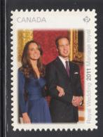 Canada 2011 MNH Sc 2466i (P) Royal Wedding Ex Booklet Die Cut To Shape - 1952-.... Règne D'Elizabeth II