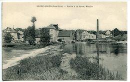 SARRE UNION Partie De La Sarre . Moulin - Carte à Dos Vert Non écrite * Parfait état - Sarre-Union