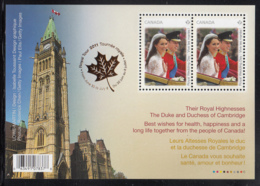 Canada 2011 MNH Sc 2477b Souvenir Sheet Of 2 Royal Wedding Parliament, Royal Tour - 1952-.... Règne D'Elizabeth II