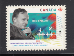 Canada 2011 MNH Sc 2489i (P) Dr. John Charles Polanyi Die Cut To Shape Ex-booklet - 1952-.... Règne D'Elizabeth II