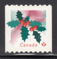 Canada 2011 MNH Sc 2491i (P) Holly Christmas Die Cut To Shape Ex-booklet - 1952-.... Règne D'Elizabeth II