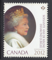 Canada 2012 MNH Sc 2518 (P) Portrait QEII Diamond Jubilee - 1952-.... Règne D'Elizabeth II
