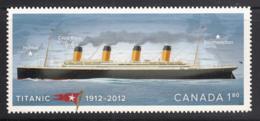 Canada 2012 MNH Sc 2538i $1.80 Titanic Die Cut To Shape Ex-booklet - Nuevos