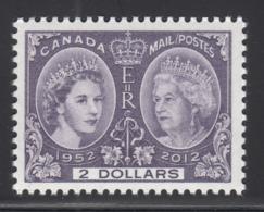 Canada 2012 MNH Sc 2540 $2 Queen Elizabeth II Diamond Jubilee - 1952-.... Règne D'Elizabeth II