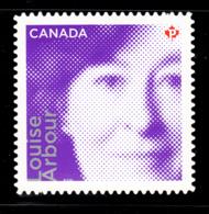 Canada 2012 MNH Sc 2550i (P) Louise Arbour Die Cut To Shape Ex-booklet - 1952-.... Règne D'Elizabeth II