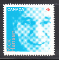 Canada 2012 MNH Sc 2551i (P) Rick Hanson Die Cut To Shape Ex-booklet - 1952-.... Règne D'Elizabeth II