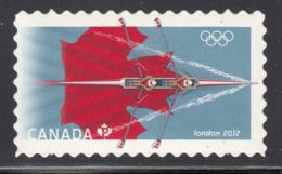 Canada 2012 MNH Sc 2556i (P) Rowing London Olympics Die Cut To Shape Ex-booklet - 1952-.... Règne D'Elizabeth II