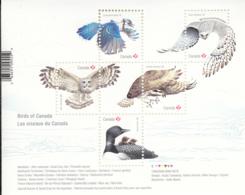 Canada 2017 MNH Sc 3017 Souvenir Sheet Of 5 (P) Birds Of Canada - 1952-.... Règne D'Elizabeth II