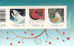 Canada 2017 MNH Sc 3045 Souvenir Sheet Of 3 Christmas - 1952-.... Règne D'Elizabeth II