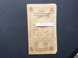 CARTE INDIVIDUELLE D'ALIMENTATION  Carnet De Sucre  MINISTÈRE DE L'AGRICULTURE ET DU RAVITAILLEMENT Dep.de La Seine 1920 - Bons & Nécessité