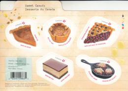 Canada 2019 MNH Souvenir Sheet Of 5 (P) Canadian Desserts - 1952-.... Règne D'Elizabeth II