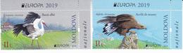 2019 , Moldova  Moldavie  Moldawien  Moldau  Europa Birds  Fauna , 2 V. , MNH - Moldavië