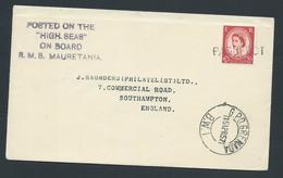 Grenada 1957 Paquebot Cover To England  Ship Mauretania Great Britain Adhesive - Grenada (...-1974)