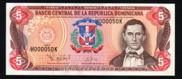 DOMINICAN REPUBLIC RD$ 5 1997 Low Number H000050K PICK-152b UNC - Dominicaine