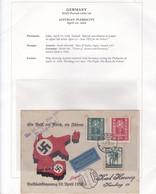 GERMANY NAZI PERIOD AUSTRAIAN PLESBICITE 1938 POSTMARK LINZ STAMP AUSTRIA MAP AUSTRIA WITH GERMANY RARE TBE - BLEUP - Briefe U. Dokumente