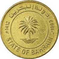 Monnaie, Bahrain, 5 Fils, 1992/AH1412, TTB, Laiton, KM:16 - Bahrein