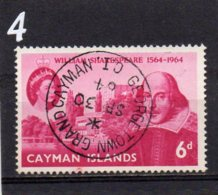 1964 Shakespeare 6d Used - Cayman Islands