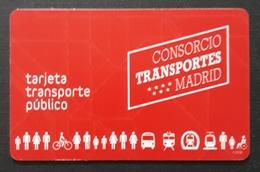 TARJETA TRANSPORTES PUBLICOS MADRID. - Otros