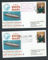 Great Britain 1967 Queen Mary Final Voyage Covers X 2 Southampton & Lisbon Cds - 1952-.... (Elizabeth II)