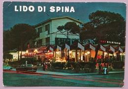 LIDO DI SPINA - Bar Gelateria Lo Sporting - Notturno - Piaggio Vespa  Vg - Ferrara