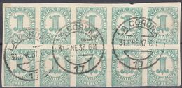 ESPAÑA - SPAGNA - SPAIN - ESPAGNE - 1933 - Lotto Di 10 Yvert 526 Usati Uniti Fra Loro. - 1931-Heute: 2. Rep. - ... Juan Carlos I