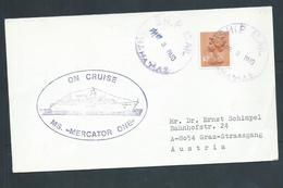 Bahamas 1980 's Paquebot Cover To Austria , Ship Mercator One , GB Adhesive - Bahamas (1973-...)