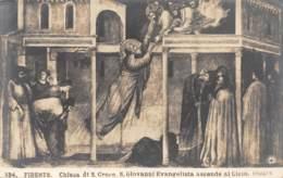 FIRENZE - Chiesa Di S. Croee.  S. Giovanni Evangelista Ascende Al Cielo. Giotto - Firenze (Florence)