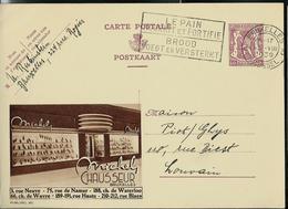 Publibel Obl. N° 365  (Michel CHAUSSEUR  Bruxelles)  Obl. Bruxelles 13/08/1939 + Flamme - Interi Postali