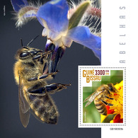 GUINEA BISSAU 2019 - Bees S/S. Official Issue - Honingbijen