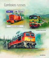 GUINEA BISSAU 2019 - Russian Trains S/S. Official Issue - Treinen