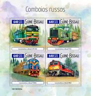 GUINEA BISSAU 2019 - Russian Trains. Official Issue - Treinen
