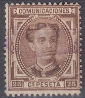 ESPAÑA - SPAGNA - SPAIN - ESPAGNE - 1876 - Yvert 166 Usato. - 1875-1882 Regno: Alfonso XII