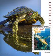 GUINEA BISSAU 2019 - Turtles S/S. Official Issue - Schildpadden