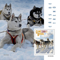GUINEA BISSAU 2019 - Sledge Dogs S/S. Official Issue - Honden